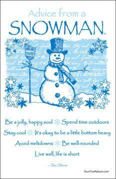 Advice from a Snowman Hanging Wood Sign – Your True Nature Inc