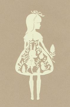 paper cut doll. inspired.