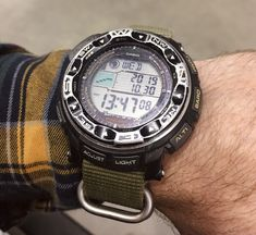 [Casio] I see photos of All these pristine watches. Here's my beater. Casio Protrek, Brand Guide, G Shock Watches, Pocket Watches, Wrist Watches, Wabi Sabi, Watch Brands, Casio Watch, See Photo