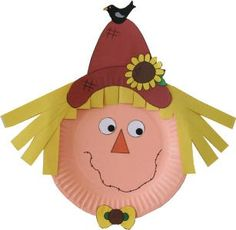 Paperplate scarecrow