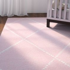 found it at wayfair nat diamond hand tufted baby pink area rug