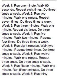 8 Week Running Schedule