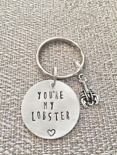 You're my Lobster Keychain - Friends Keychain - You are my Lobster by HandToHeartJewelry on Etsy https://www.etsy.com/ca/listing/270363410/youre-my-lobster-keychain-friends
