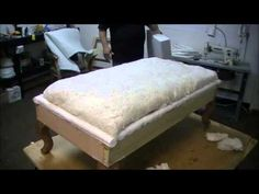 Upholstery Batting - YouTube // SUPER INFORMATIVE // Step-by-step showing the 3 layers of batting/foam that need to go under the fabric