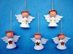 Výsledek obrázku pro tvoření s dětmi andělíček Christmas Crafts, Christmas Ornaments, Dolls, Holiday Decor, Advent, Winter Craft, Angeles, Angels And Fairies, Abundance