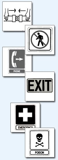 safety signs printable color pages and flashcards