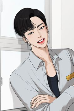 True Beauty on Webtoon Chica Anime Manga, Manga Boy, Anime Boys, Anime Art, Webtoon Comics, Handsome Anime Guys, Harajuku Fashion, True Beauty, Suho