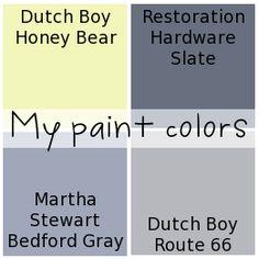 House of Hepworths house paint colors. Interior House Paint Colors, Paint Colors For Home, House Colors, Basement Colors, Basement Ideas, Painting Tips, House Painting, Coordinating Paint Colors, Decorating Ideas