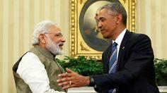 Narendra Modi with Barack Obama Obama Watch, Paris Climate, History Of India, India Usa, Sustainable Energy, Air Force Ones, Us Presidents, Global Warming, Barack Obama