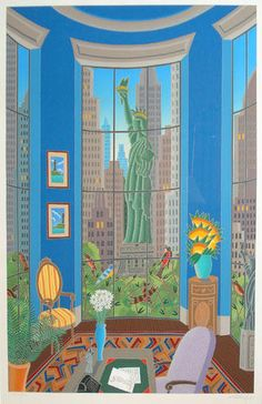 Thomas McKnight - Seven Statues (Statue of Liberty) New York - WANT!