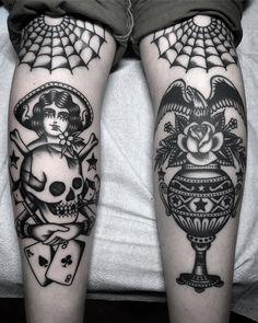 Antonio Roque @ Black Label Tattoo Company #TraditionalTattoos