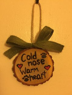 Wood Slice Ornament Dog Ornament Christmas by TheChaoticPawPrints