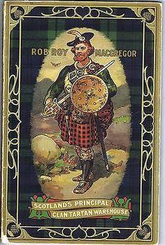 Antique Scottish Souvenir Mauchline Wood Plaid Tartan Textile Decor Arts Book