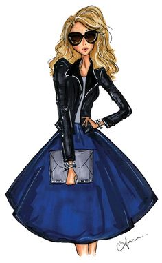 Anum Tariq Illustrations - Leather Weather 2014 - Macy's Fashion Rocks Event