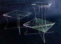 alzate in plexiglass trasparente
