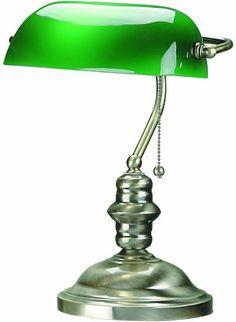 Lite Source Banker Banker's Lamp Antique Brass LS-224AB   LampsUSA