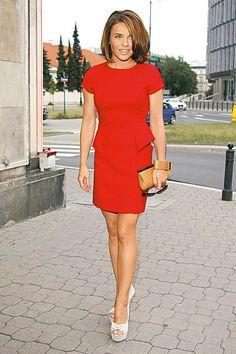 EDYTKA  HERBUŚ Tv Presenters, Lady In Red, High Neck Dress, Singer, Actresses, Celebrities, Hot, Sexy, Model