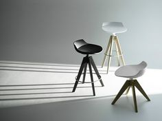 The elegant Flow Stool Frame Oak was created by Jean-Marie Massaud for the Italian design company MDF Italia.The MDF Italia headquarters are located in Mar Contemporary Dining Chairs, Contemporary Furniture, Italia Design, Low Stool, Commercial Furniture, Tripod Lamp, Architecture, Bar Stools, Home Accessories