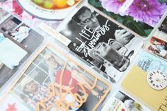 I love how she layered vellum over the photo behind the die-cut!! ♥ | Ali Edwards