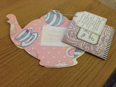 Teapot hen party invites - awesome!!