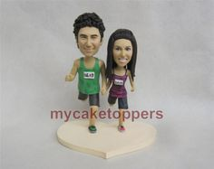 running wedding cake topper, cake topper, look like you,racing cake topper, running
