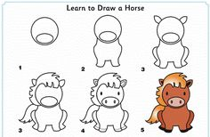 Exciting Learn To Draw Animals Ideas. Exquisite Learn To Draw Animals Ideas. Easy Animal Drawings, Art Drawings For Kids, Horse Drawings, Doodle Drawings, Drawing For Kids, Cartoon Drawings, Easy Drawings, Drawing Sketches, Learn Drawing