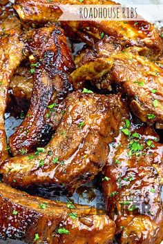 Roadhouse Ribs like you have never had before. Perfect flavor, fall off the bone ribs. These ribs actually taste better than they look! Hard to believe I know! Pork Rib Recipes, Grilling Recipes, Meat Recipes, Crockpot Recipes, Cooking Recipes, Smoker Recipes, Beef Ribs Recipe, Cooking Tips, Slow Cooking