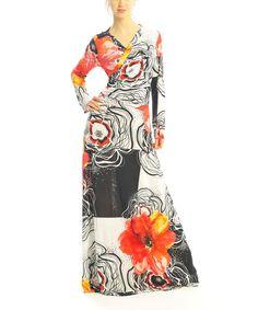 White & Orange Floral Convertible Maxi