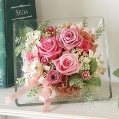 Flower Picture Frames, Picture Frame Crafts, Flower Pictures, Flower Frame, Faux Flowers, Diy Flowers, Pretty Flowers, Flower Decorations, Paper Flowers Craft