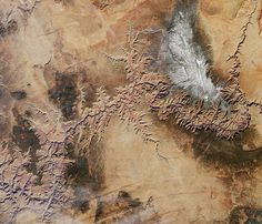 The Grand Canyon as seen from space.