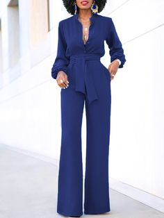 Classy Dress, Classy Outfits, Chic Outfits, Fashion Outfits, Fashion 2018, Long Jumpsuits, Jumpsuits For Women, Black One Piece Jumpsuit, Formal Jumpsuit