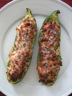 Baking, domesticity, and all things mini: Sausage-stuffed zucchini boats