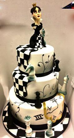 The Black Queen Cake Designer: Sara Giustizieri Cake Studio,Roma, Italia
