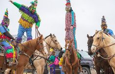 Experience the Cajun version of Mardi Gras at the Courir de Mardi Gras in Eunice Louisiana