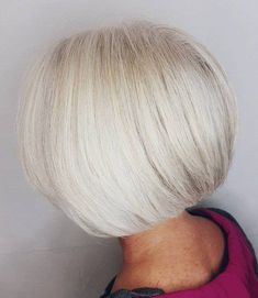 Perfect Blowout for White Bob Over 60 Hairstyles, Bob Hairstyles, Everyday Hairstyles, Formal Hairstyles, Braided Hairstyles, Wedding Hairstyles, Short Grey Hair, Short Hair Cuts, Short Wavy