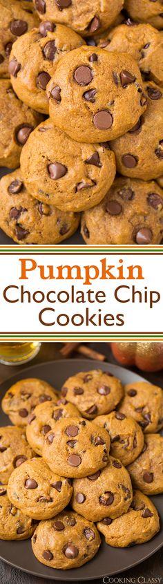 pumpkin chocolate chip cookies - a fall favorite! So good!