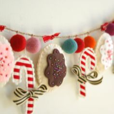 Christmas garland. Would be cute in the kitchen!
