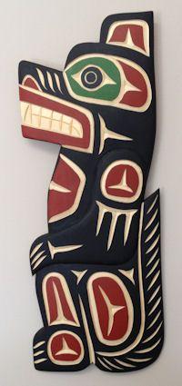 northwest coast native art. The Wolf