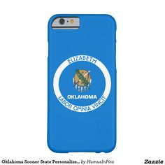Oklahoma Sooner State Personalized Flag Barely There iPhone 6 Case