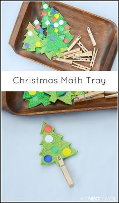 Christmas fine motor counting math activity for kids from And Next Comes L This Christmas counting tray is a great Christmas math activity for toddlers and preschoolers Math Activities For Toddlers, Christmas Activities For Kids, Kindergarten Christmas, Holiday Fine Motor Activities, Numeracy Activities, Counting Activities, Math For Kids, Kindergarten Activities, Fun Math