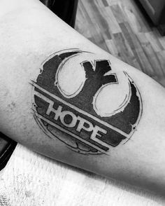 "Star Wars Rebel ""Hope"" tattoo."