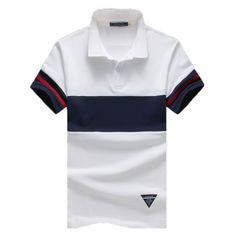 M-5XL 94% cotton 6% spandex Mens Polo Shirts Striped Polo Shirts Men short Sleeve Shirt Polo Men polos hombre manga corta marca