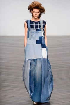 Patchwork Denim #Overall #Dress I Urban punk #fashion trend for fall winter 2013