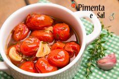 Confit de tomate ou tomate confitado, receita. Como fazer confit de tomate, uma entradinha linda, gostosa e muito facil de fazer