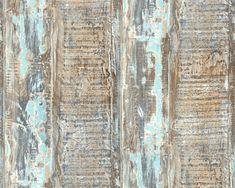 A.S. Création Vliestapete 354131: Tapete, Tapeten, Grün, Blau, Braun,  Streifen