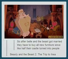 Disney memes, funny, Beauty and the Beast