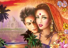 1000 pcs jigsaw puzzle: For My Heart Is (Love) (Schmidt Schmidt, Image Resources, Classic Artwork, High Resolution Wallpapers, Couples Images, Couple Cartoon, Image Hd, Easy Paintings, Indian Art