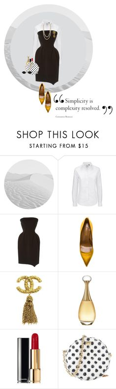 New elegance by sanja1992 on Polyvore featuring Yves Saint Laurent, Aquazzura, Dolce&Gabbana, Chanel, Christian Dior and vintage