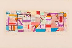 Paul Klee 'Cote de Provence 5' Watercolor was created on a journey in 1927 when Klee traveled from Switzerland to Provence and Corsica. He made seven different versions of 'Cote de Provence'