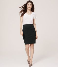 Primary Image of Curvy Fit Custom Stretch Pencil Skirt